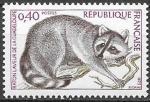 Франция 1973 год. Енот-полоскун. 1 марка