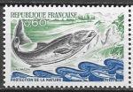 Франция 1972 год. Сёмга. 1 марка