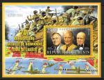 Бенин 2014 год. 70 лет битвы за Нормандию. Лидеры стран союзников. Блок.