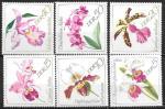 ГДР 1968 год. Цветы, орхидеи, 6 марок