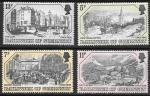 Остров Гернси, 1978 год. Город Сент-Питер-Порт на старинных гравюрах. 4 марки