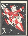 Спичечная этикетка. С Новым Годом! Космос. 1962 г.