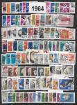 Годовой набор гашеных марок 1964 год