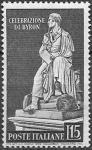 Италия 1959 год. Памятник Британскому поэту Лорду Байрону. 1 марка