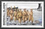 Маршалловы острова 1994 год. История Второй мировой войны. Возвращение генерала Макартура на Филиппины. 1 марка.             (н82)
