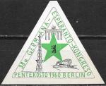 Непочтовая марка. Конгресс Германия-Эсперанто. Берлин. 1960 год