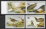 Пенрин, 1985. 200 лет со дня  Рождения американского орнитолога Д. Д. Одюбона. Птицы. 4 марки