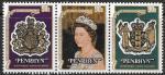 Пенрин, 1978. 25-летие коронации Елизаветы Второй. 3 марки, сцепка
