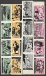 Набор спичечных этикеток в листах. Циолковский. 1964 год. 16 штук