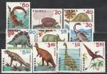 Польша 1965 год. Динозавры. 10 марок.