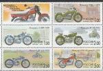 Россия 1999 год, Мотоциклы, 6 марок сцепка