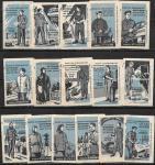 Набор спичечных этикеток. Рабочая одежда. Модели. 16 шт. 1960 год.