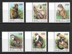 Серия 6 марок. Обезьяны. Гвинея 1998 год