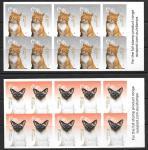 Австралия 2015 год. Кошки. 5 почтовых буклетов с самоклеящимися марками