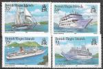Виргинские острова, 1986 год. Круизные суда. Флот, 4 марки