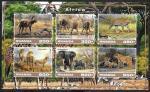 Руанда 2017 год. Африка, животные. Малый лист.