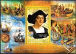 Кот дИвуар 2012 год. Итальянский мореплаватель Христофор Колумб и его открытия. Блок