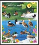 Антигуа и Барбуда 1995 год. Местные утки, малый лист