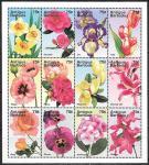 Антигуа и Барбуда 1995 год. Цветы, малый лист