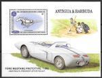 Антигуа и Барбуда 1994 год. 100 лет автомобилю, блок